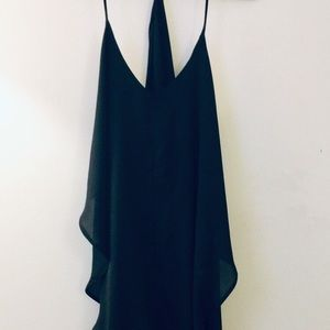 FASHION NOVA BLACK LOW-CUT TANK DRESS 2XL